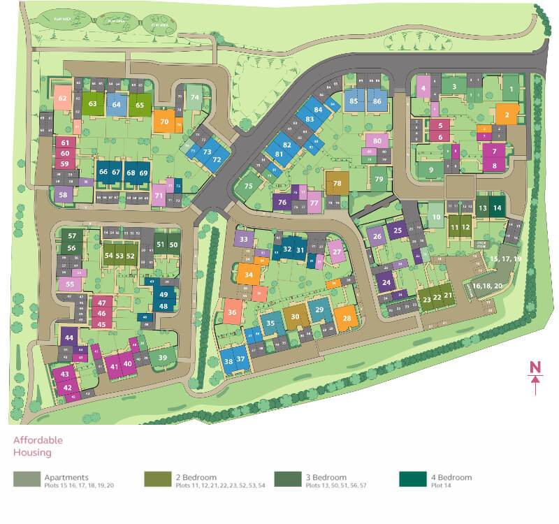site plan in barnstaple devon berryfields